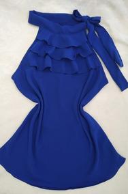 Blusa Crepe - Azul