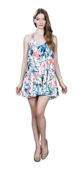 Vestido De Coctel Ark & Co. Con Estampado Floral Multicolor
