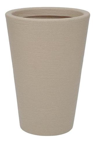 Imagem 1 de 1 de Vaso Em Polietileno Cone Terra 38x55cm Areia