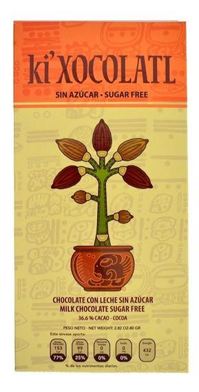 Chocolate Ki Xocolatl Con Leche 36% Cacao, Sin Azucar
