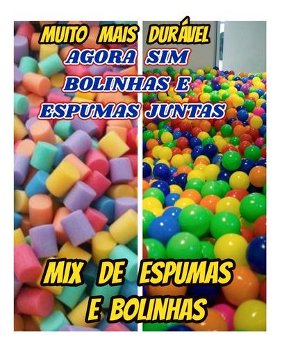 Imagem 1 de 10 de Mix Bolinha+espuma P/piscina De Bolinha Kit C/1500+ Brinde