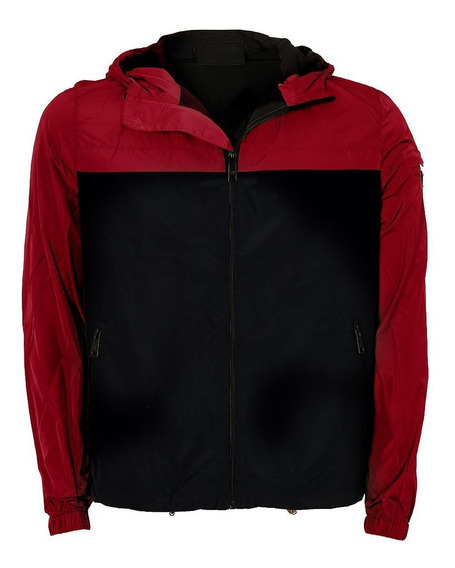 Jaqueta Prada Milano Nylon Zip Red Grey
