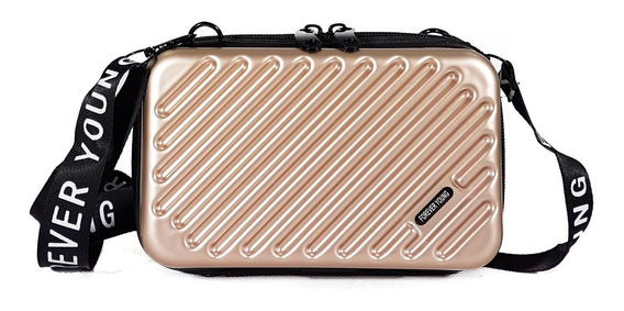 Bolsa Feminina Mini Bag Transversal Rígida Nova Blogueira