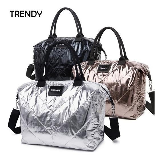 Cartera Bolso Trendy Metalizada 34x37