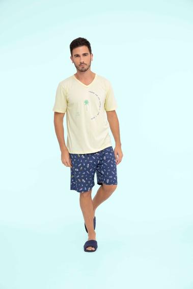 Pijama Masculino Adulto Algodão Beach - Ref. 13143