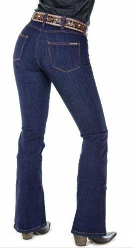 Calça Jeans Country Radade Feminina Lycra Flare Cós Médio