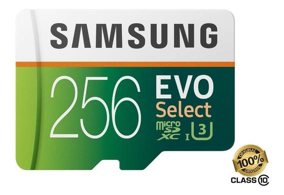 Cartão Micro Sdxc Samsung 256gb 100mbs 4k Galaxy S9 S10 Note