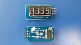 2x Modulo Display Tm1637 7 Segmentos 4 Dígitos