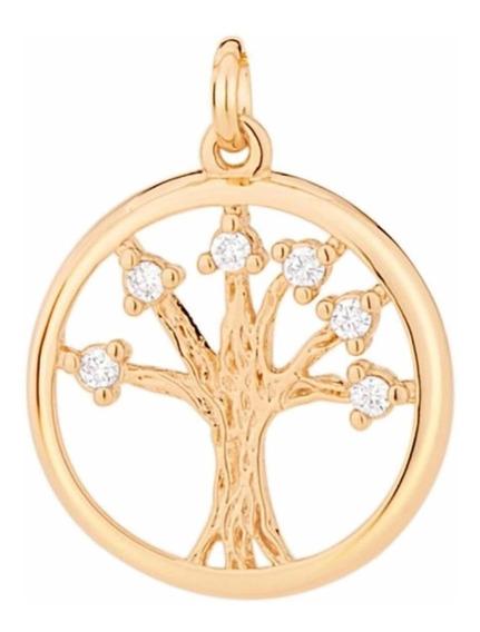 Pingente Rommanel Folheado Ouro Árvore Da Vida 542182