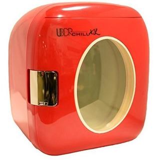 Mini Refrigerador Calentador 12 Latas Rojo Uber Appliance
