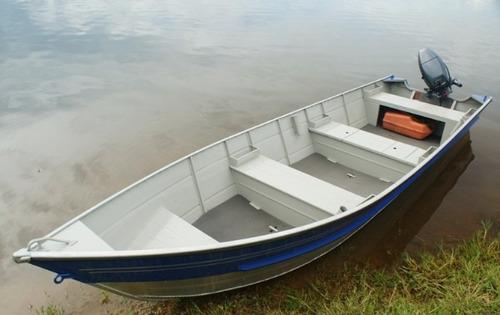 Imagem 1 de 4 de Barco De Aluminio 5 Mtrs Aruak 500 Okm Miami Nautica