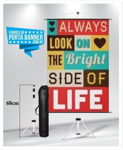 Porta Banner De Alumínio Sem Garras 1,80 Mts + Bolsa