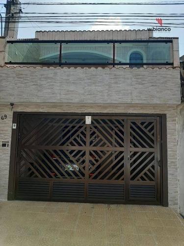 Sobrado Com 2 Dormitórios À Venda, 185 M² Por R$ 595.000,00 - Rudge Ramos - São Bernardo Do Campo/sp - So0470