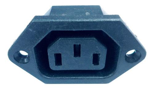 Conector Ficha C13 10a Hembra Chasis Plastico V1041