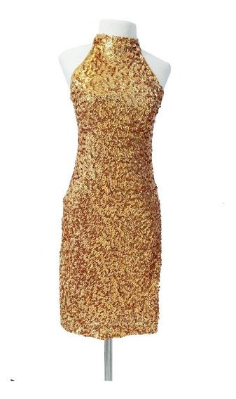 Vestido Corto De Lentejuelas. Art 50081