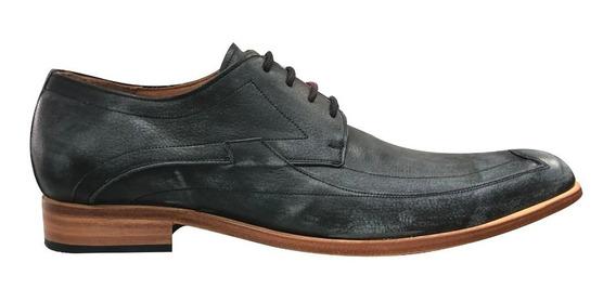 Zapato Vestir Hombre Cuero Gastado Base Suela Jr 1302