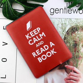 Capa Bumper Silicone Keep Calm Read Book Kindle Paperwhite