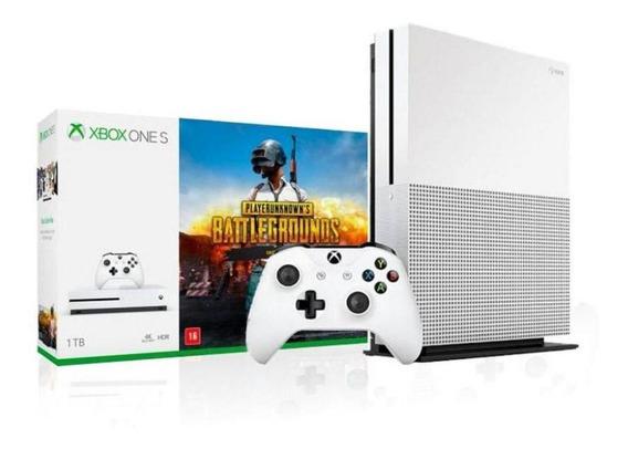 Xbox One S 1tb 4k 1 Controle Branco E Jogo Battlegrounds