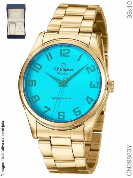 Kit Relógio Champion Dourado Passion Analógico Cn29883y