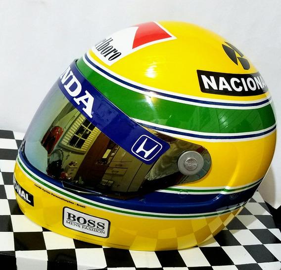 Capacete Ayrton Senna + Brindes! Réplica