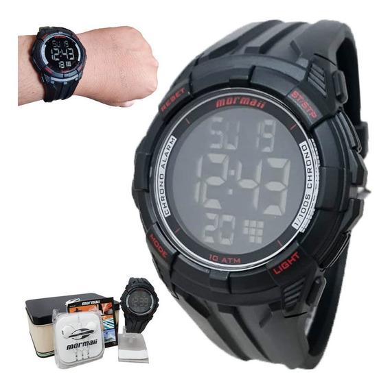 Relógio Mormaii Masculino Digital Mo18771ac/k8r Com Brinde