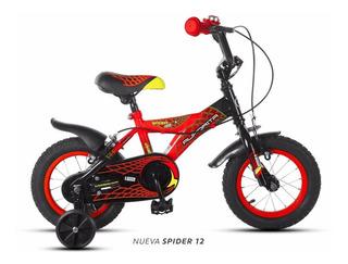 Bicicleta Aurora Spider Rodado 12 En Slice Deportes