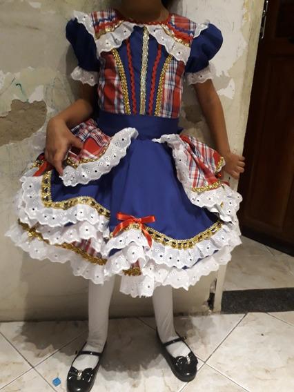 Vestido Quadrilha Junina Para Meninas Que Veste 5 E 6 Anos