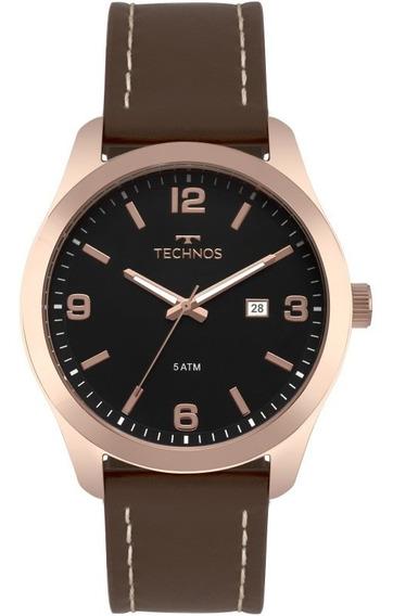 Relógio Technos Masculino Classic Steel Marrom 2115mpj/2p