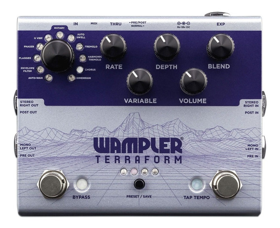 Pedal Wampler Terraform Multi-modulation C/ Nf-e & Garantia