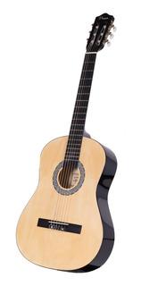 Guitarra Criolla Parquer 3/4 Niño 91 Cm Natural Funda