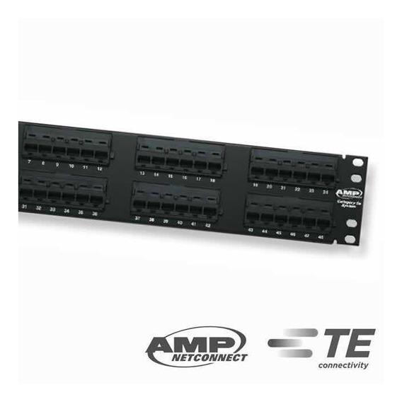 Pach Panel Pachera 48 Puertos Cat5e Amp Te Conectivity