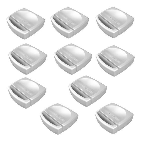 Kit 10 Sensores Magnético Sem Fio Sm-lithium Tem 433mhz