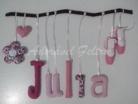 Móbile Letras No Galho - Julia