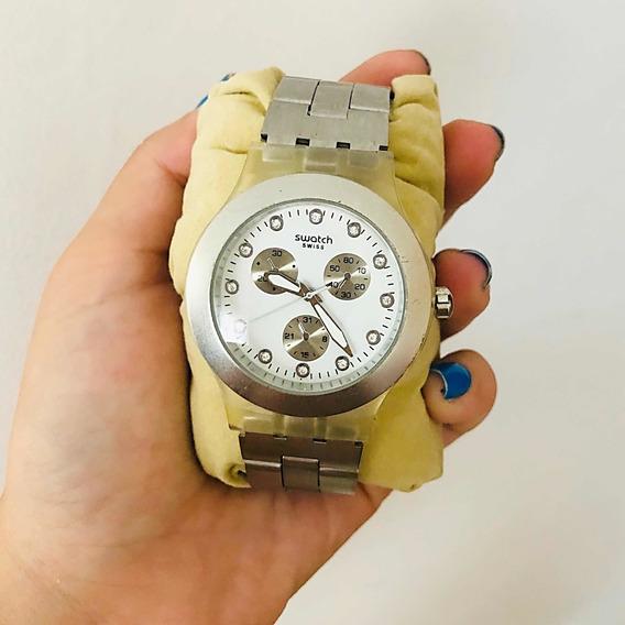 Relógio Feminino Prata Swatch
