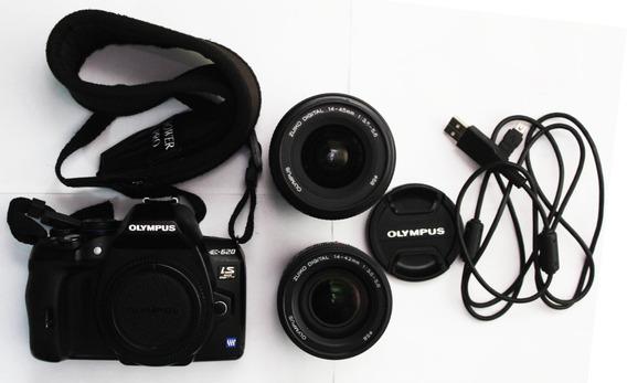 Camera Olympus E-620 + Carregador + 2 Lentes + Case + Cartão