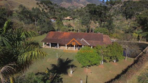 Chácara Com 4 Dormitórios À Venda, 4000 M² Por R$ 420.000 - Sapucai Mirim - Sapucaí-mirim/mg - Ch0017