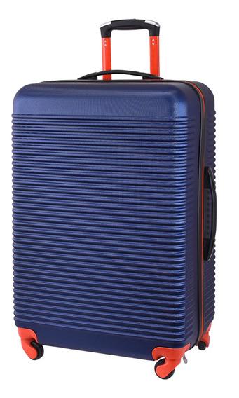 Mala De Viagem Exeway Média Com Rodízios 360°, Azul/laranja