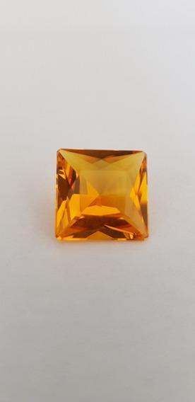 Pedra Preciosa Natural Citrino 15 Quilate Lapidação Quadrada