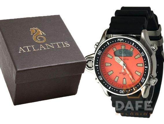 Relógio Altantis A3220 Analogico Original C/ Caixa E Nf