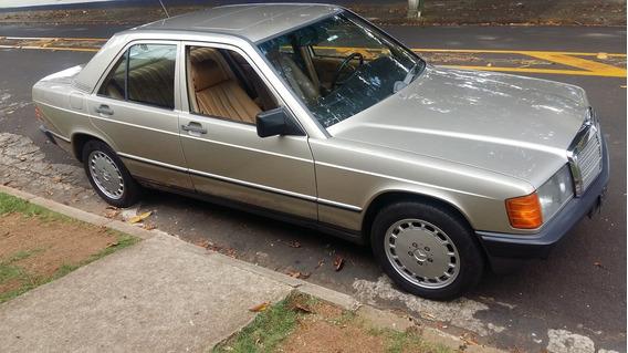 Mercedes 190e Ano 1988 Em Ótimo Estado, Placa Preta