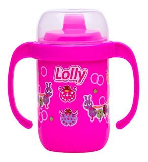Copo Antivazamento Com Alça 250ml Rosa - Lolly