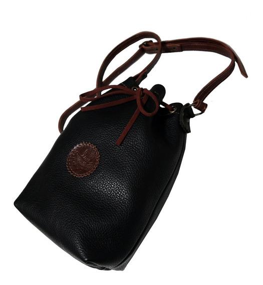 Line Bucket Bag Couro Legítimo