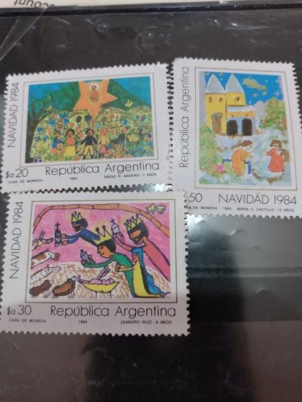 Argentina 1984 Gj 2185/87 Navidad Dibujos A