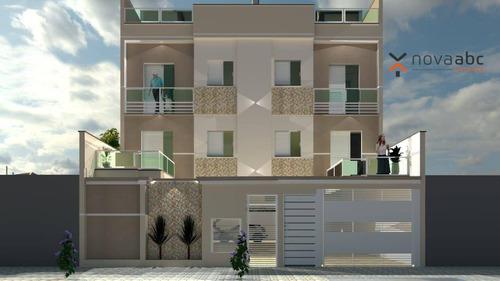 Imagem 1 de 3 de Cobertura Em Construção Com 42m²+42m² Por R$275.000 - Vila Tibiriçá - Santo André/sp - Co0653