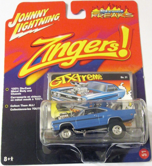 Johnny Lightning 1970 Plymouth Gtx Mide 7,5 Cm. Escala 1/64.