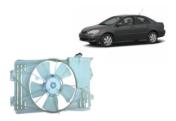 Ventoinha E Defletor Radiador Corolla 2003 A 2008 Original