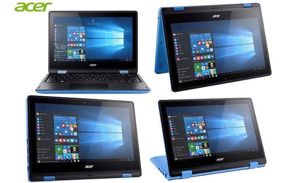 Notebook 2 Em 1 Acer Quad Core 4gb 500gb Tela 11.6
