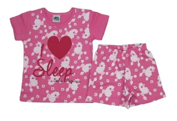 Pijama Infantil Bicho Bagunça Poodle
