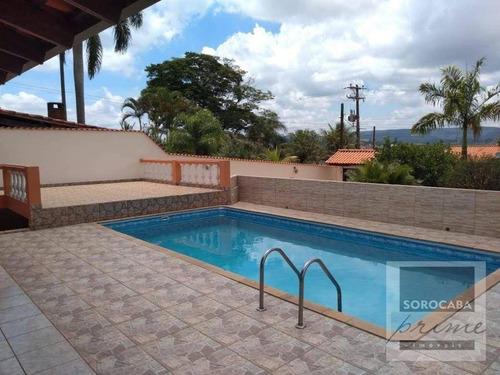 Imagem 1 de 30 de Chácara Com 3 Dormitórios À Venda, 1030 M² Por R$ 550.000,00 - Residencial Alvorada - Araçoiaba Da Serra/sp - Ch0009