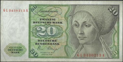 Alemania Federal 20 Mark 2 Ene 1980 P32d